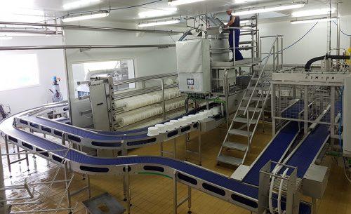Fabrication et montage d'une ligne semi-automatique de fromage à pâte pressée